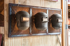 WS WMLWS-3 Vintage Weld Mask Sconce