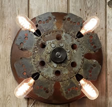 LA CPWS 1930s Clutch Plate Wall Sconce
