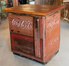COCACAB Custom Coca Cola Cabinets with Vintage Wood
